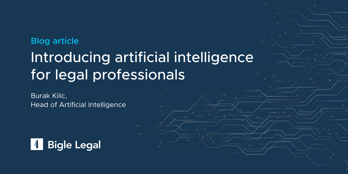 Introducing artificial intelligence for legal professionals